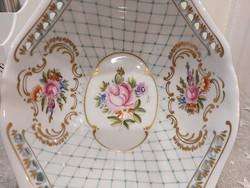 Ravenhouse floral patterned porcelain centerpiece, bowl.