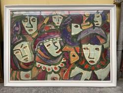 Németh Miklós Eredeti olaj festmény 109x79,5 cm