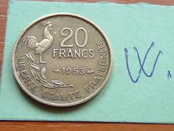 FRANCIA 20 FRANCS FRANK 1953 ( G. GUIRAUD) 4 TOLL,KAKAS #W