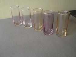 Színes likőrös pohár készlet 5 db-os eladó!