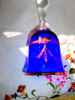 Antique glass bell with acid etched lace fineness decoration