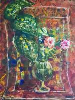 István Imre - still life 66 x 49 cm wonderful watercolor