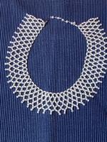 Régi tekla gyöngy nyaklánc vagy gallér