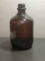 Large pharmacy, lab glass bottle