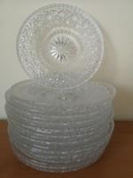 Ólomkristály tányér készlet - 12 db