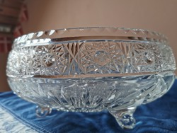 Large size lead crystal bowl. Beautifully polished, flawless.