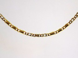 Tömör sárga-fehér arany nyaklánc (ZAL-Au101736)
