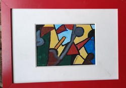Modern forms: tempera painting