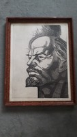 Lenin litográfia ismeretlen szignóval