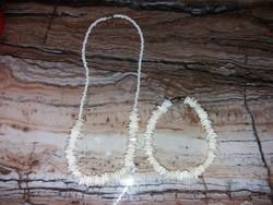 Beautiful seashell necklace and bracelet