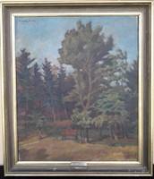 Nagybányai park ( Ferenczy Károly szignóval)