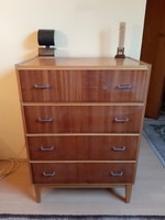 Retro drawer chest of drawers is a standard piece of home decor for 70s homes
