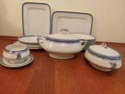 Antique hüttl tivadar 19th century tableware set of 18 pieces.