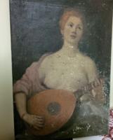 Lady with mandolin