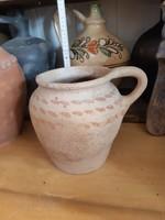Unglazed tile silk, pot, cobblestones