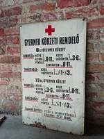 Körzeti orvosi tábla, gyermekorvosi festett lemeztábla