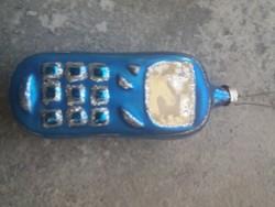 Üveg Karácsonyfadísz Telefon