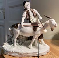 Antique large bernard bloch porcelain