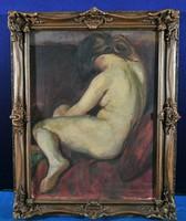 István Vitez Darvassy (1888-1960) nude painting