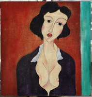 Unknown art-deco woman from around 1960
