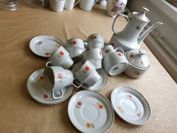 Hollóház art-deco style porcelain coffee set for sale!
