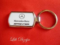 Mercedes-benz sprinter metal keychain