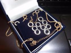 14K bicolor necklace