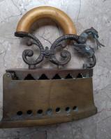 Iron, 19th century copper, patinated curiosity, antique piece