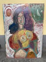 Miklós Németh original, female abstract nude 72x101 cm