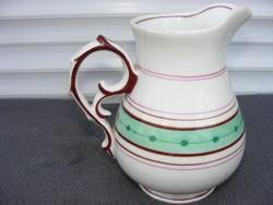 Biedermeier porcelánkancsó Cseh, 1860 körül
