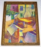 Ziffer Sándor pasztell festménye