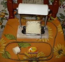 Retro régi ritka íróasztali éjjeli asztali búrás lámpa