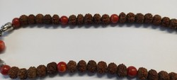 Rudraksha shiva tears with red coral