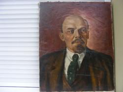 Ism  V .I. .LENIN 1950-60 as évek olaj vászon