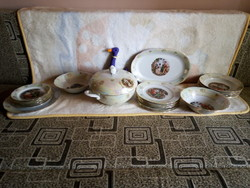 20238A kahla porcelain lyster-framed, horseradish tableware