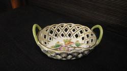 Herend, Victorian patterned basket