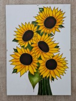 Unique sunflower glass painting glass picture