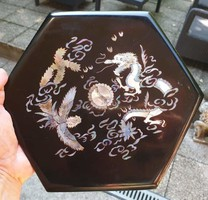 Inlaid oriental box with 25x6.5 Cm shell insert is beautiful