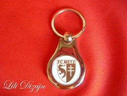 Fc metz metal keychain