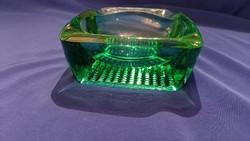 Brutal green glass ashtray