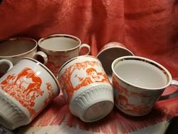6 pcs. Antique porcelain cup