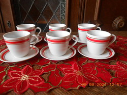 Zsolnay porcelain, mszmp party office coffee set