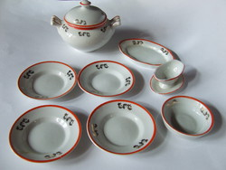 Beautiful old antique gold decorated baby porcelain set, tableware