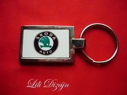 Skoda stylish metal keychain