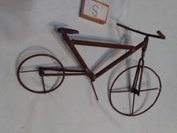 Fém kerékpár, bicikli makett - kézzel készült egyedi darab
