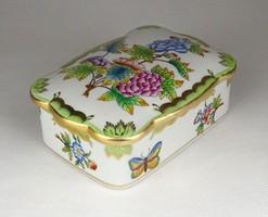 0Y682 victorian patterned herend porcelain bonbonier