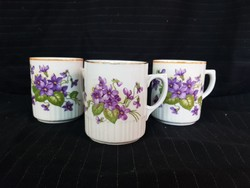 Old zsolnay violet mugs. Almost unused pieces