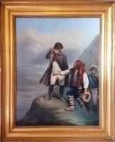 Nagyházi aukción szerepelt! Napóleon 1846, Zsoldos 846 jelzéssel. Olaj/vászon, eredeti keretében!