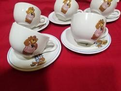 Teddy bear 5 coffee set