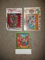 3 db postatiszta, kiváló állapotú képeslap, Főszékesegyházi könyvtár, Esztergom, Képzőművészeti Alap